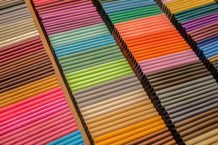Full frame shot of colorful fabric for sale