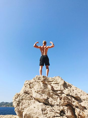 Clear Sky Teenager Asthetic Back Transformation Athlete Muscles first eyeem photo
