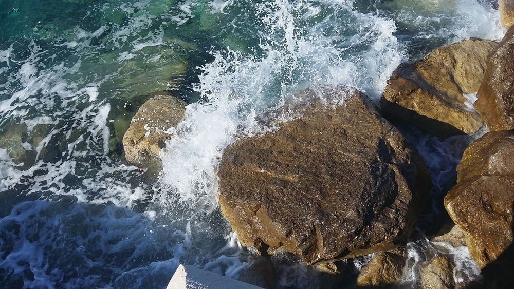 Sea Rock Sea Rock Sea Rocks Croatia Prigradica Waves Beautiful Beauty In Nature