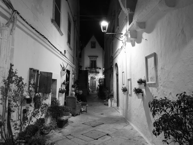 Architecture Illuminated Built Structure No People Night Blackandwhitephotography Black And White Photography Blackandwhite Photography No Filter No Edit/no Filter No Filter, No Edit, Just Photography Italy🇮🇹 Puglia South Italy Puglia, Italy Locorotondo Architecture