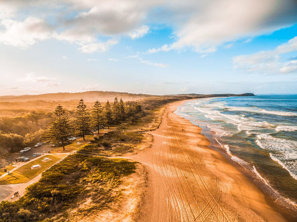Beautiful ocean coastline, sandy beach, and trees casting long shadows at sunset Australia Australian Landscape Coastline Drone  New South Wales  Panorama Panoramic Aerial Aerial Landscape Aerial Photography Aerial View Beach Beauty In Nature Cloud - Sky Day Drone Photography Horizon Horizon Over Water Idyllic Land Landscape Nature No People Non-urban Scene North Haven Ocean Outdoors Plant Sand Scenics - Nature Sea Sky Sunrise Sunset Tranquil Scene Tranquility Water