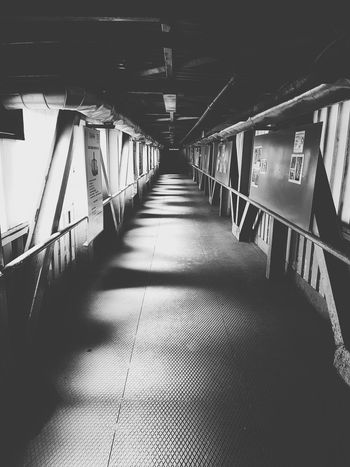 Architecture Built Structure Indoors  The Way Forward Bridge - Man Made Structure No People Hallway Hallwayporn The Architect - 2017 EyeEm Awards Best Of EyeEm Getting Inspired My Unique Style Eye4photography  EyeEm Masterclass EyeEm Gallery EyEmNewHere Capture The Moment EyeEm Best Shots Blackandwhite Black & White Neighborhood Map The Great Outdoors - 2017 EyeEm Awards My Year My View My Point Of View Steel Construction