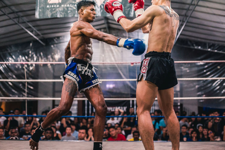Alvin Vs. Ian (X) Sport Athlete Competition Healthy Lifestyle Shirtless Men Motion Adult Determination Sportsman Two People Competitive Sport Young Men Exercising Young Adult Strength Vitality Muscular Build Boxing - Sport People Effort Hitting Punching Punch Fight Fighting Fighters Fit Fitness MuayThai Muay Thai