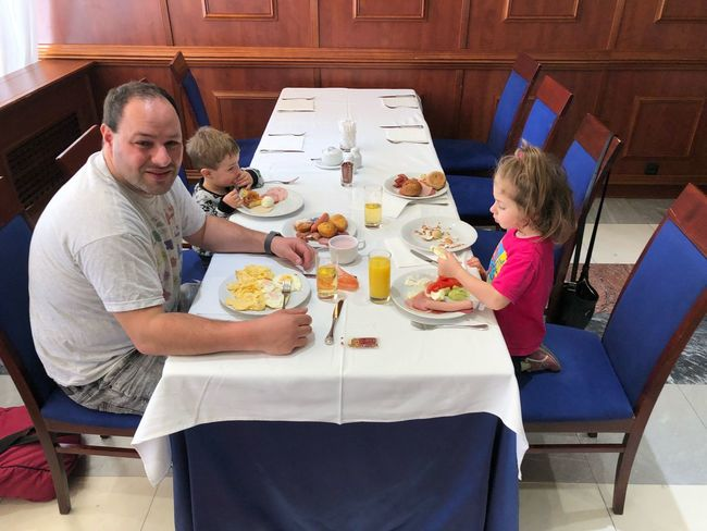 Childhood Kids Fatherhood Moments Children Parent Family Breakfast EyeEm Selects Food And Drink Food Adult Men Table Indoors  Drink Eating Sitting