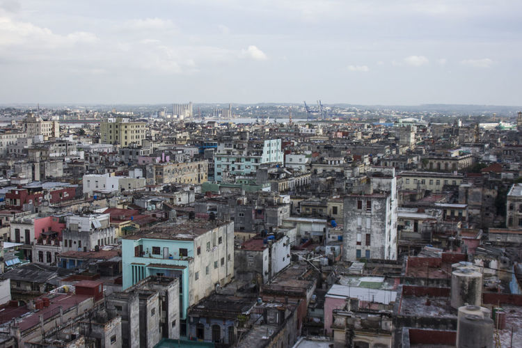 City Life Cityscapes Cuba Decay Havana High Angle View Old Old Buildings