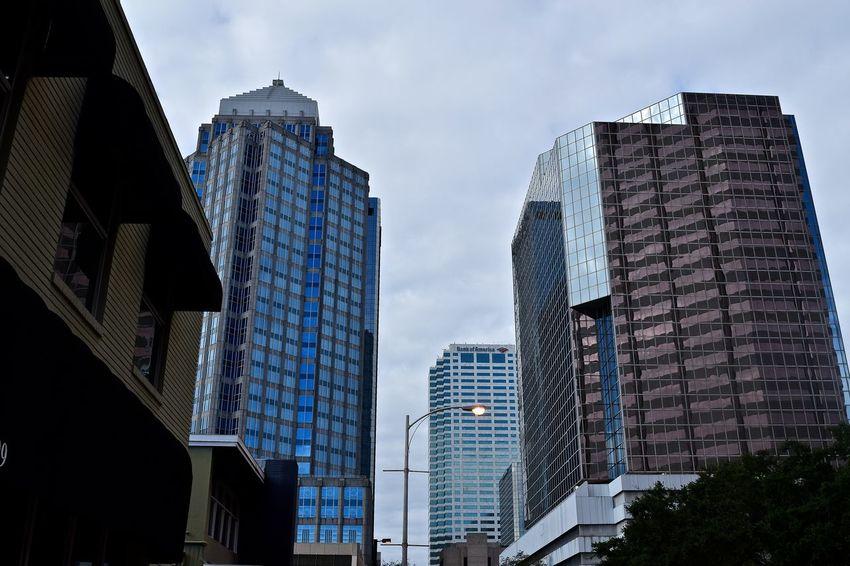 Downtown Tampa, Cloudy Sunday Morning City Cloudy Morning Downtown Tampa Florida My City Sky And Clouds Skyscrapers Tampa Tampa, Florida The City Light