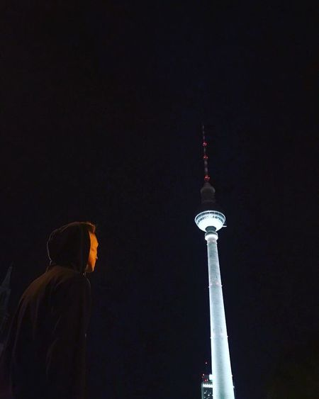 Discover Berlin Tall - High Tower Television Tower Night Outdoors Berlin Tv Tower Berlin Berlin At Night Me Myself And I Standing Tall Architecture Sky Over Berlin.