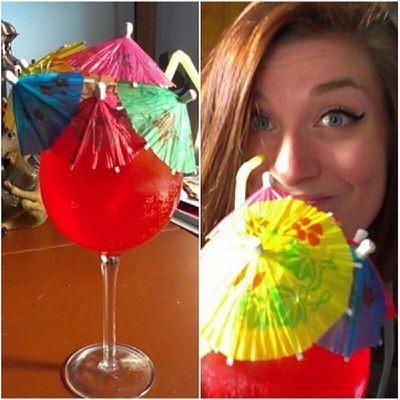 HAPPY NONALCOHOLIC HOUR. Happyhour Minusthealcohol Umbrellaparty Ilikeumbrellas PARTYrainbowumbrellasvirginmargaritaslolinstaclassygirlyesimagirldrinkup