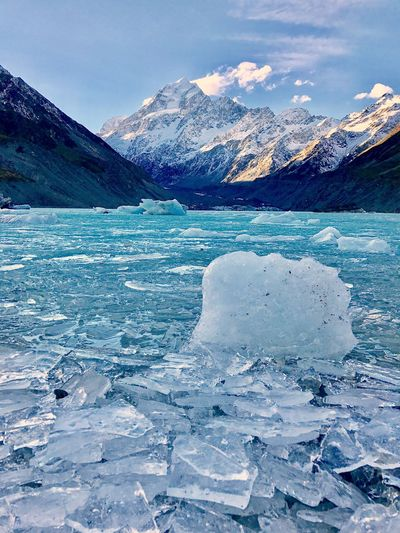 EyeEm Selects EyeEm Selects Cold Temperature Snow Winter Beauty In Nature Mountain Ice Nature Scenics Frozen Tranquil Scene Tranquility Glacier Snowcapped Mountain Weather Lake Landscape Outdoors Mountain Range Iceberg Lost In The Landscape Sky