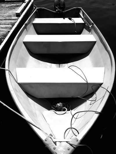 Only the guy who isn't rowing has time to rock the boat. Jean-Paul Sartre Boat Dock Water Lake No People Day Outdoors Nautical Vessel Black And White