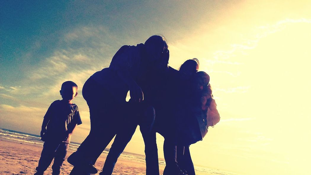 Styled Stock Photos Friendship Silhouette Beach Group Of People Togetherness Nature Day Water Adults Only