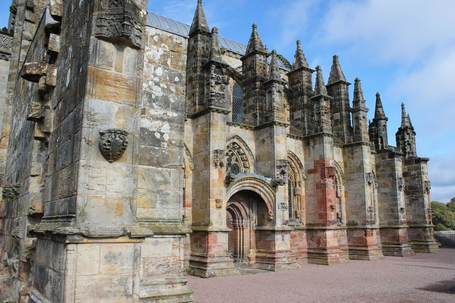 Architecture Building Exterior Built Structure City Day Edinburgh History No People Outdoors Place Of Worship Rosslyn Chapel Scotland Sky Travel Destinations