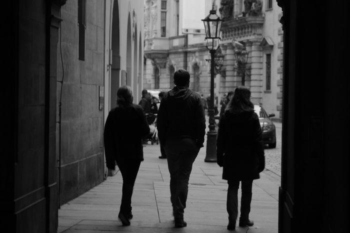 city wandering Blackandwhite City Street Dresden People Shadow Three Wandering Wandering Around Aimlessly First Eyeem Photo