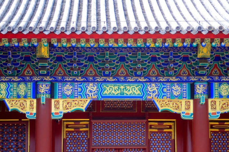 Architecture Built Structure Pattern Building Multi Colored Art And Craft Place Of Worship Design Creativity Building Exterior No People Belief Religion Craft Day Roof Travel Destinations Ornate Floral Pattern