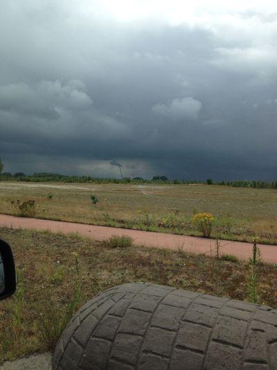 Bad Weather Stormy Weather Dark Blue Sky Lommel Windmolen Windmolenpark