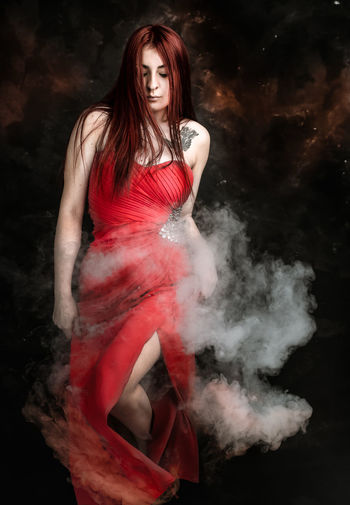 red woman, character portrait Fire Hot Hell Demon Red Strong Woman Character Portrait Fantasy My Best Photo Young Women Portrait Beautiful Woman Beauty Females Women Red Beautiful People Studio Shot Surreal Desire Seduction Mysterious The Portraitist - 2019 EyeEm Awards