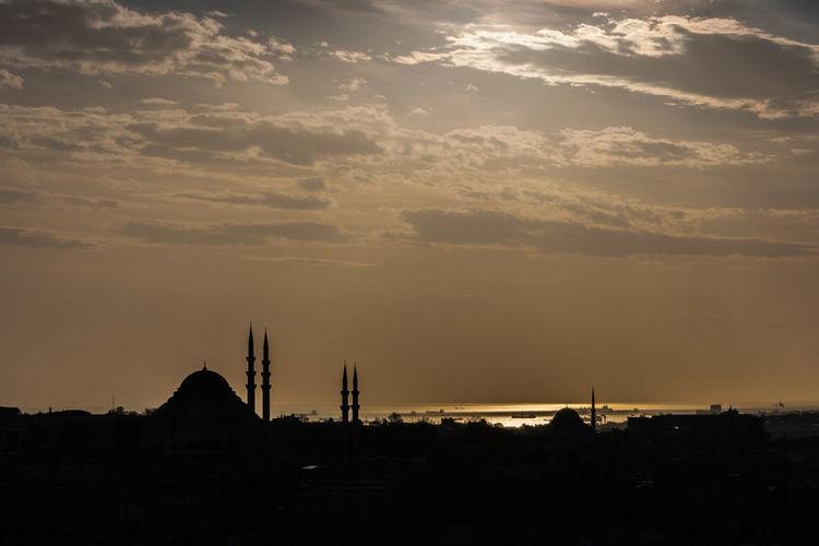 Avon Bosporus Holiday Istanbul Moskee Reizen Turkije Zon Zonsondergang
