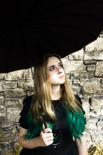 Emily in Wonderland • pt 2 Blond Hair One Person Long Hair Young Adult Young Women Beautiful Woman One Woman Only Petticoat Portrait Of A Woman Magic Nature Green Color Green Lolita💞 Gothic Nature Photography Growth Pale Sunlight The Week On EyeEm
