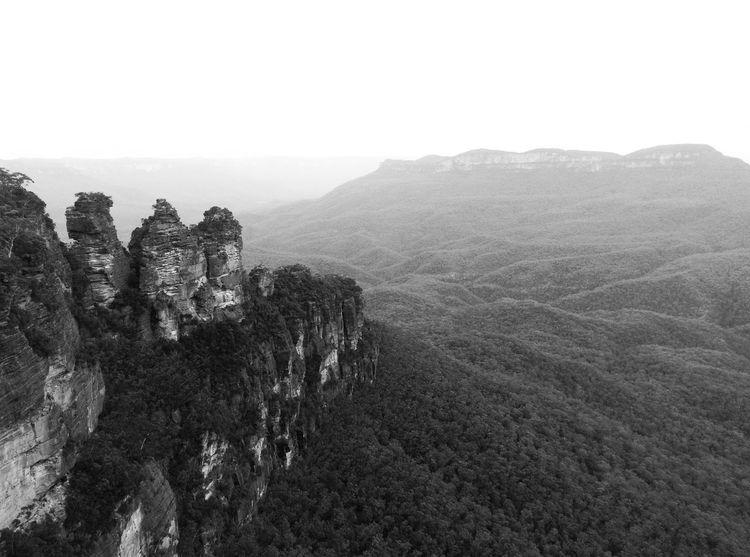 Australia Blue Mountains Katoomba Landscape Mountain Mountain Range Non-urban Scene Physical Geography Rock Rock Formation Rocky Rocky Mountains Scenics Three Sisters Tranquil Scene