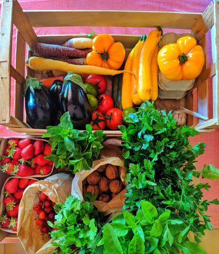 Eat less eat better Carrot Tomato Tomatoes Cherry Strawberry Strawberries Nuts Pumpkin Squash - Vegetable Fruit Choice Retail  Leaf Variation Vegetable Flower Plant Farmer Market