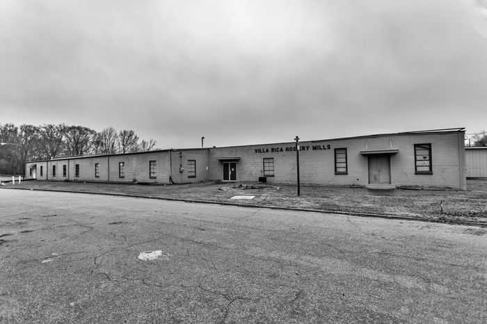 Villa Rica Hosiery Mills Architecture Built Structure Sky Building Exterior Cloud - Sky No People Nature Day Transportation Building Outdoors Absence Land Overcast Field Street City Road Empty