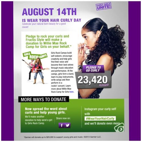 August 14th is 'Wear Your Hair Curly Day'!!! WearYourHairCurlyDay Teamnatural CurlyGirls Curls RockYourCurls CurlsForACause