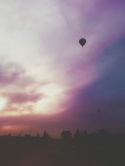 Hotairballoons Sky Sunset Clouds