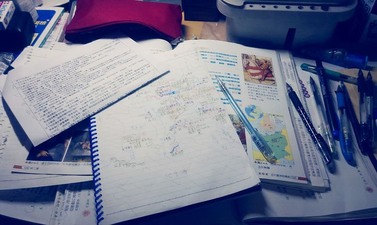Study Time My Simple Life Tired Have Test