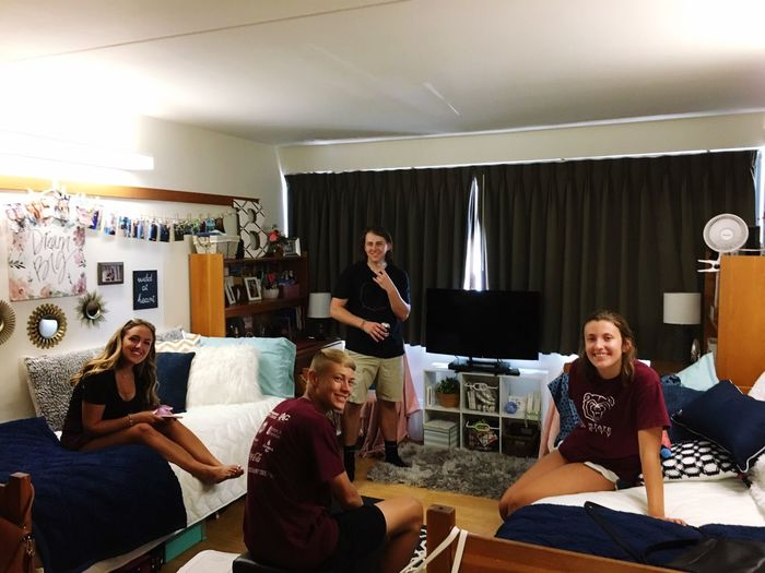 College Life Dorm Room Friends Game Day! Missouri State University
