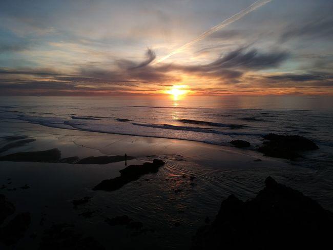 Mother Nature's Art Dji Spark Pacific Northwest  Birds Eye View Sunset Reflection Cloud - Sky Sun Beach Sea Sky Dramatic Sky Dusk