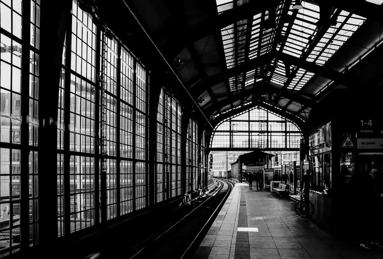 Absence Architectural Column Architecture Bahnhof Bahnsteig  Built Structure Ceiling Corridor Diminishing Perspective Fenster Glass Illuminated Interior Long S-bahnhof Station Subway Station The Street Photographer - 2016 EyeEm Awards The Way Forward Urban Vanishing Point