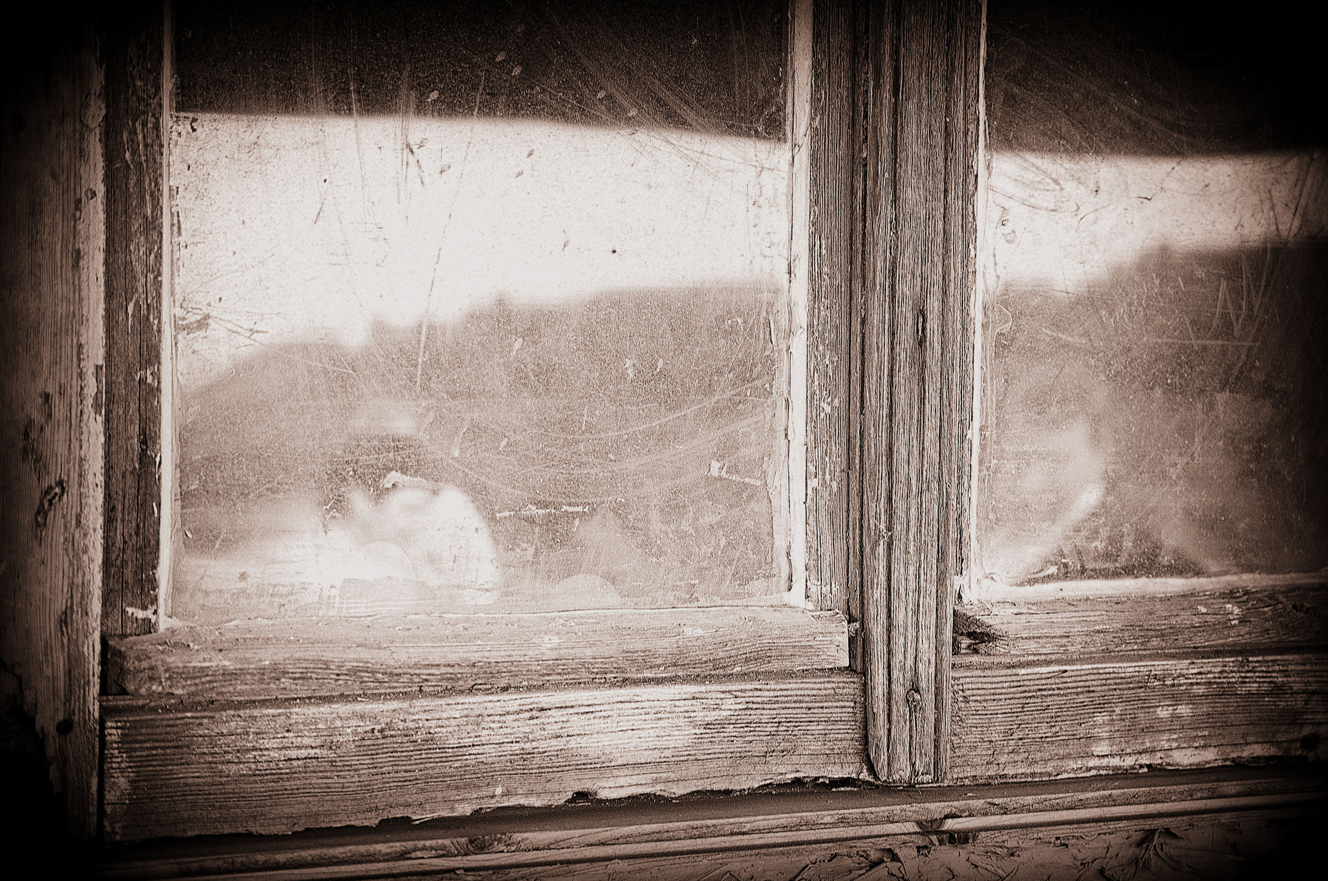 window, indoors, glass - material, wood - material, transparent, curtain, one person, day, house, looking, reflection, real people, home interior, close-up, door, old, wood, innocence, window frame, wood grain