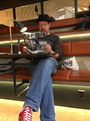 Bruce Springsteen Born To Run Reading A Book Reading Bruce's autobiography. Don't even think about disturbing me!!! 😎