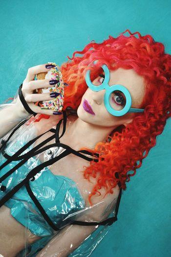Fashion Photography Colorful Donut Urban Fashion Jungle Clown Portrait Human Face Red Water Mime Human Lips Close-up Eyelash Eyeball Human Eye Eyeshadow