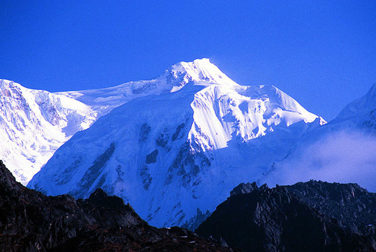It is the TALLEST mountain in India called Kanchenjunga situated at a height of 8586 is a snow mountain Mountain Range