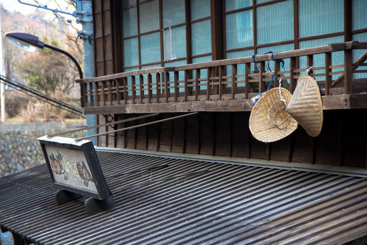 Japan Houses Japan Tradition Architecture Built Structure Close-up Day No People Outdoors Table Window