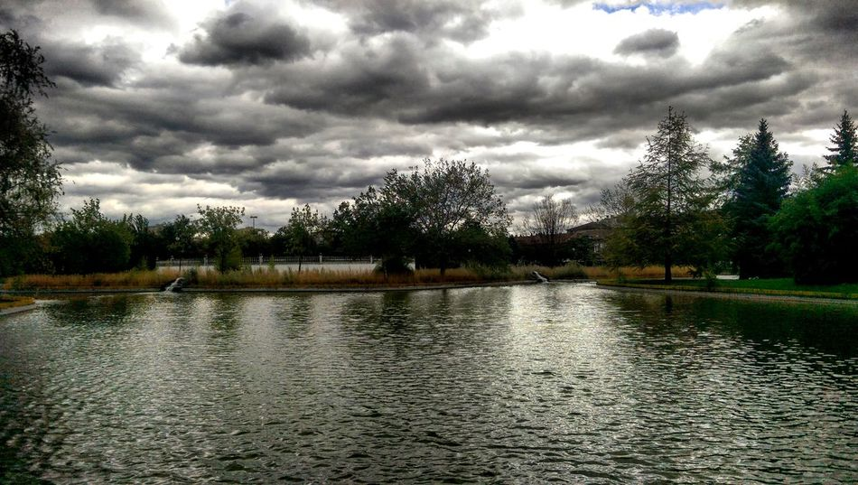 Water Tree Tranquil Scene Tranquility Lake Scenics Cloud - Sky Waterfront Cloudy Sky Nature Beauty In Nature Calm Overcast Rippled Day Non-urban Scene Cloud Growth Majestic Pamplona Pamplona (Spain) No People Pamplona, Navarra Landscape