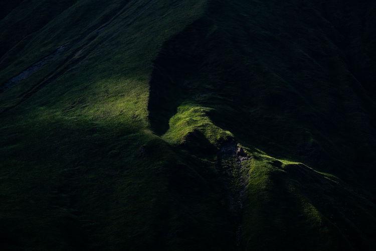 Full frame shot of rock formation on land