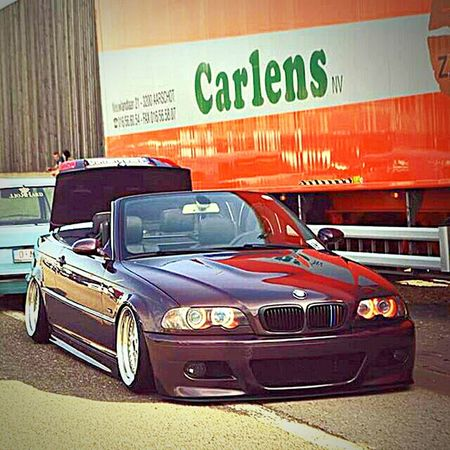 Car Collector's Car Outdoors No People BMW E46 Tuning Cars Airride OZ-wheels Cabrio Cabriolet Shiny Luxury Sports Car Transportation Stationary