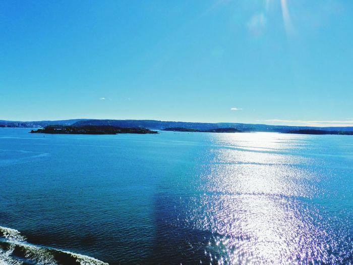 Deep Blue Sea Horizon Over Water Tranquil Scene Clear Sky Blue Sky Sea