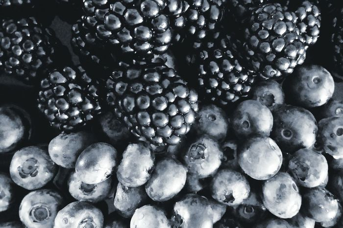 Healthy Food Berries Fruits Food Fresh Blueberries Black And White Black Berry Silvery Silverish Visual Feast