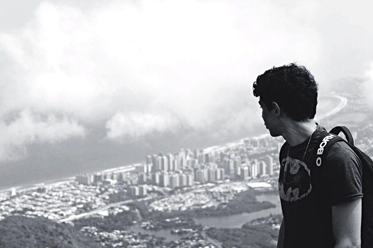 Monochrome Photography Rio De Janeiro City Sky RJ Pedra Bonita Batman Shirt