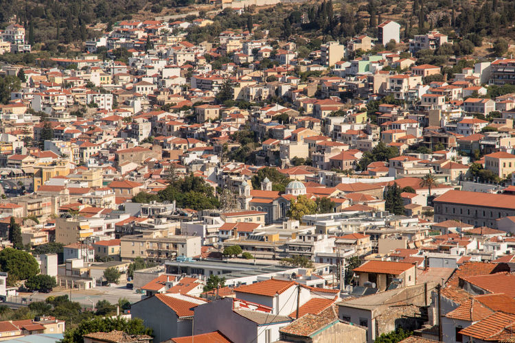 Vathy, capital of Samos Samos Island Aegean Sea GREECE ♥♥ Building Exterior Architecture Residential District Built Structure Building Roof Crowd City Crowded House Cityscape High Angle View Community Day Town Outdoors Nature Sunlight Full Frame TOWNSCAPE Roof Tile Apartment