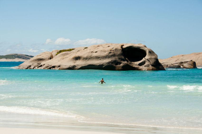 Australia Esperance Twilight Beach Beach Nature Turquoise