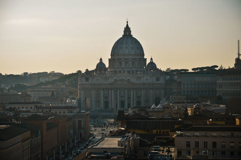 Italy, Rome, Vatican, View Of St Peter's Basilica