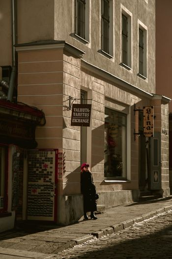 Exchange rate Portrait Of A Woman Old Town Tallinn Real People Street Photography Building Exterior Architecture Built Structure Real People One Person Building City Street Full Length Lifestyles Women Outdoors Day Streetwise Photography