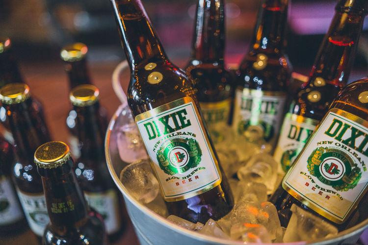 Beer Bucket Dixie Beer Dixie Pabst Blue Ribbon Bar Neon Neon Lights