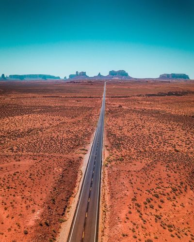 Forest Gump Road Endless Road Forest Gump Monument Valley DJI Mavic Pro Dronephotography Land Sky Blue Landscape Scenics - Nature Environment Desert Red Nature No People Travel