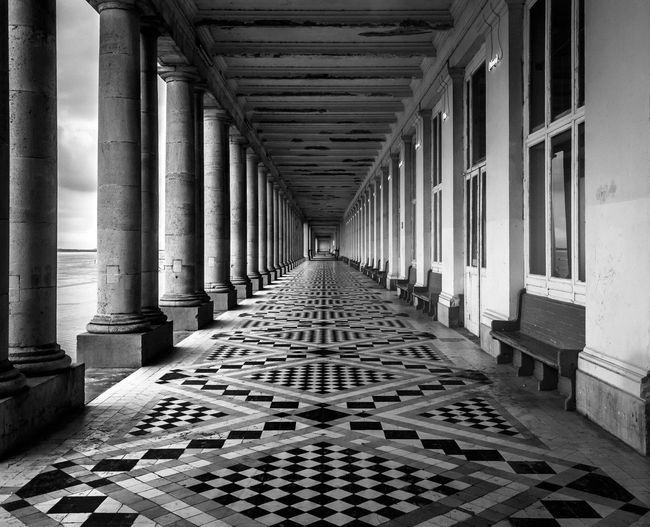 Passage By Columns At Royal Galleries Of Ostend