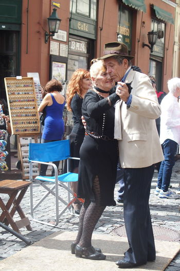 Tango Dance Street Show Lovely CopleGrandparents, San Telmo